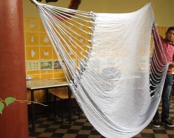 White Mayan Hammock, Handmade Double Hammock, White Brazilian Hammock, Indoor Hammock, Outdoor Hammock, Cotton Hammock, Hammocks