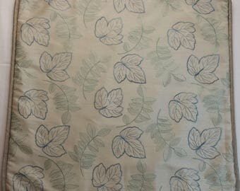 Embroidered Leaf Pattern Accent Pillow Cover