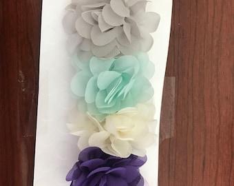 Carnation hair clips
