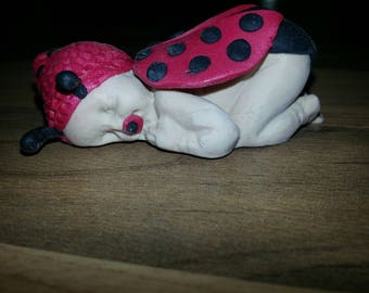 Baby Ladybug all Fimo made entirely by hand