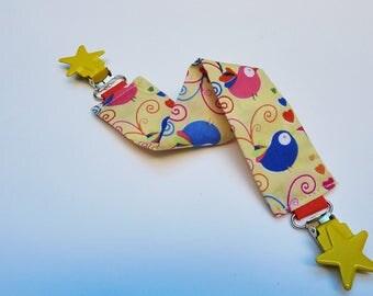 Blanket patterns bird clips stars tie