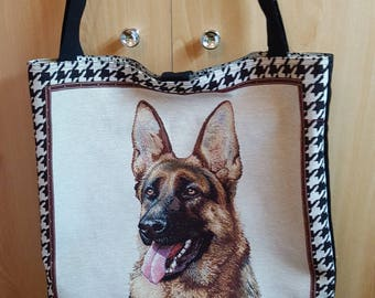 German Shepherd bag tote bag