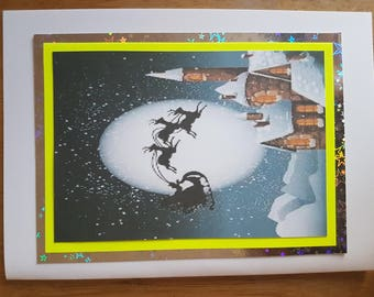 Hand Made Christmas Blank Card/ 4PCS.