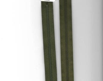 "Closure 40cm zipper""plastic"" not separable Z51 khaki 765"