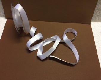"""White satin ribbon """"double sided"""" large 1.7 cm"""