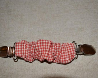 retightening cotton Plaid clip