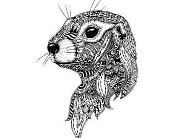 European ground squirrel with doodle