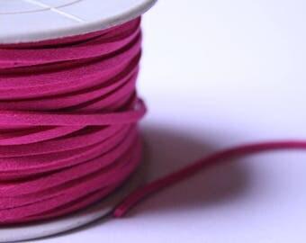 Pink suede cord 2 mm x 1 meter
