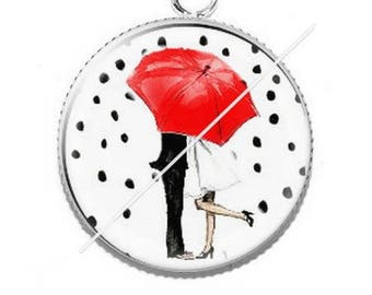 Pendant cabochons 25mm a piece of umbrella 7