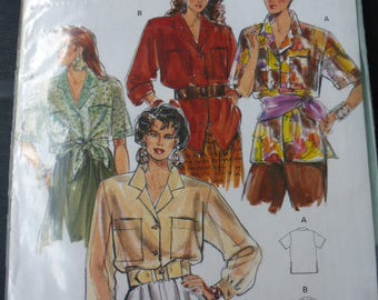 pattern summer blouse Burda style Safari jacket woman 34 to 38