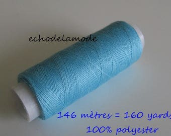 Spool of thread sewing azure 146 m 100% polyester