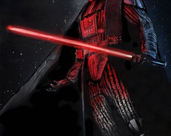 Darth Vader (A4/A3) Print, Hand drawing HD 300mgs with a Matt