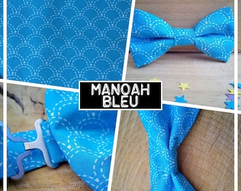 """Collection """"MANOAH"""" blue bow tie adult-teen-child-baby"""