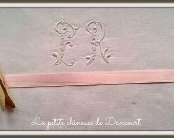 3 m of Ribbon satin 15mm pink 266