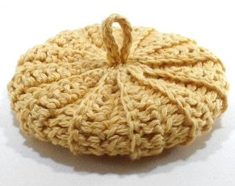 Soft cotton/viscose/linen 11 cm yellow Tawashi