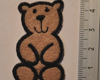 Patch, applique, cute Brown Teddy bear