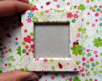 "Magnet picture frame wood - ""spring freshness"" - slip - on order"