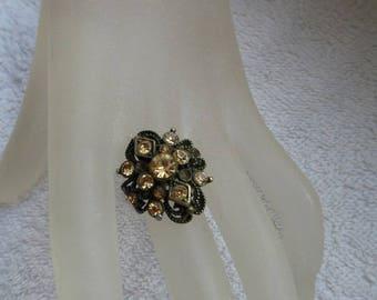 RING FILIGRANEE ZIRCONS inlaid nice jewelry gift for woman