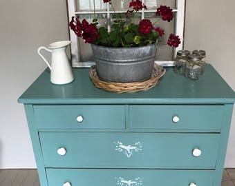Refinished Dresser - Beachy vibe!