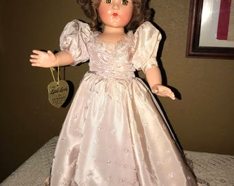 Vintage All Original Effanbee Little Lady Composition Doll 18""