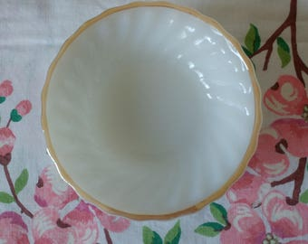 Vintage Fire King Small Bowls Set of 2 Milk Glass with Gold