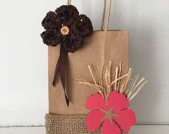 Moana Party Bags, Moana party favors, luau Party Supplies, aloha party bag, Disney Moana