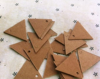 20 tags triangle kraft paper 300g