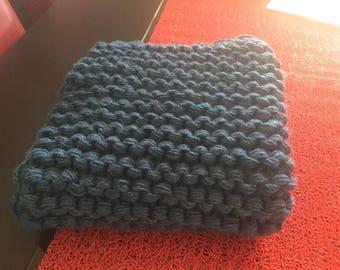Dark winter blue blanket