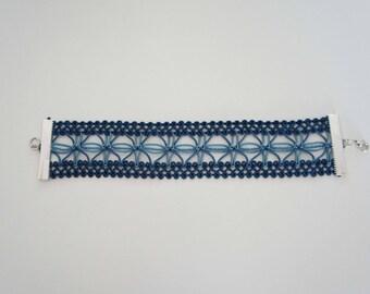 Two blue - Sapphire braid bracelet