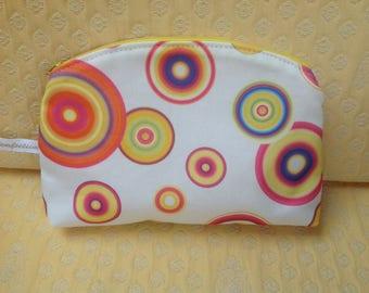 Makeup bag, pouch vintage style, clutch purse, Kit woman toiletry bag