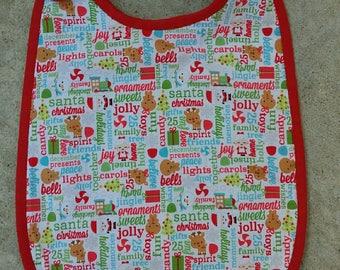 Bib 6-12 months sponge Christmas collection