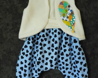 Harem pants and vest set