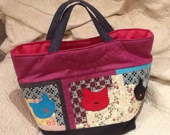 Shopping bag made of patchwork