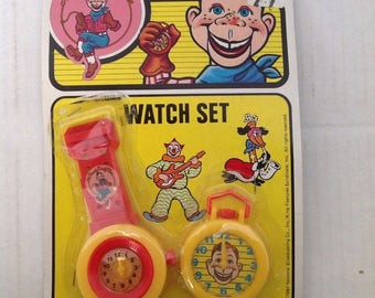 Howdy Doody Watch Set   Original Package   1987   Vintage Toy   80s Toy   Play Watch  