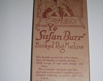 "Ye ""Susan Burr"" Hooked Rug Machine"
