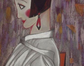 Portrait of louise in tribute to louise brooks