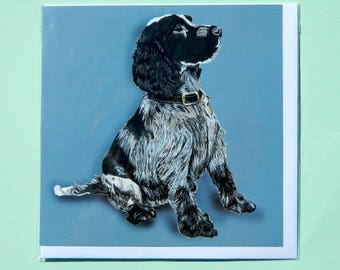 Sitting Cocker Spaniel Greetings Card