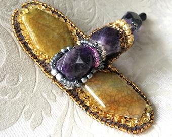 Handmade brooch, Brosche, brooch
