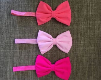 Baby Girls Bow Elastic Headband