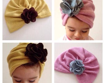 Turban hat for baby girl/girl/woman-modern and chic accessory.