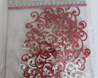 Swirls of glitter cardstock