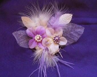 """Wedding procession"" hair clip"