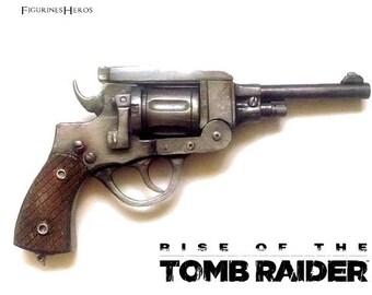Replica revolver Lara Croft Rise of the Tomb Raider - handgun - entirely hand made