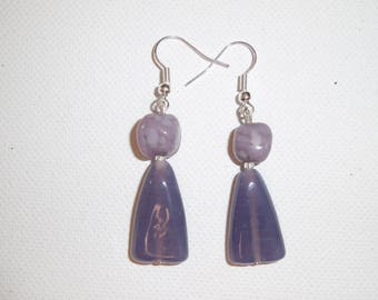 Earring, purple