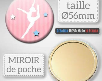 Mirror Pocket School of dancing ballerina dance Badge teacher gift idea