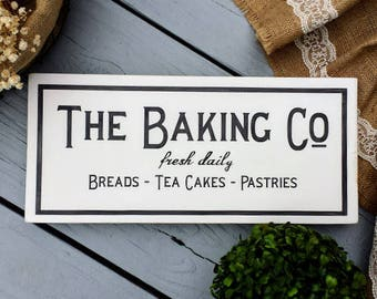 7 x 16 Baking Co Wood Sign - Bakery Wood Sign - Bakery Sign - Fixerupper sign - Farmhouse Decor - Kitchen Sign - Rustic Sign - Wood Sign