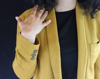canary yellow blazer
