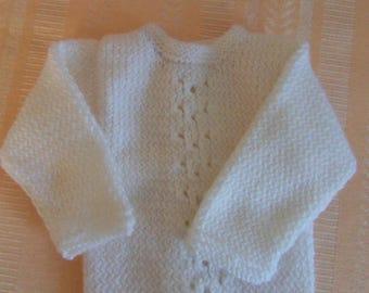 White Premature baby jacket