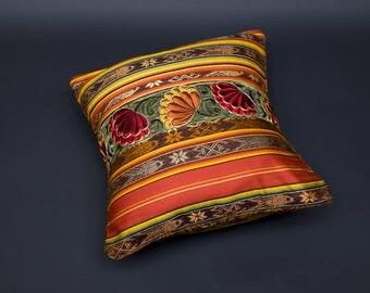 CELEBRATE AUTUMN! COLLECTION HACIENDA shades of oranges - cover of Pillow