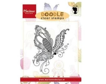 Marianne Design Butterfly new Doodle clear stamp